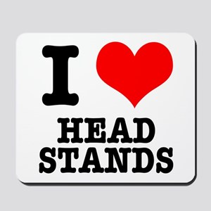 I Heart (Love) Headstands Mousepad