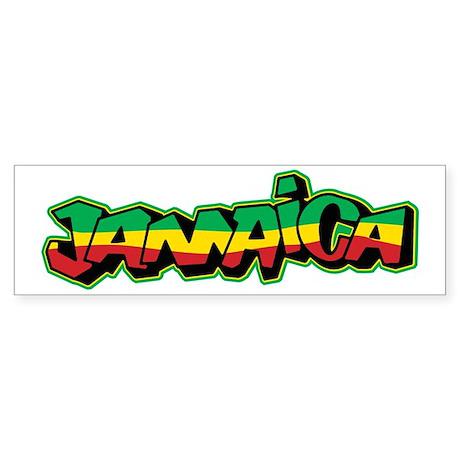 Jamaica graffiti sticker bumper