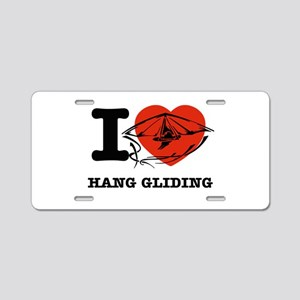 I love Hang Gliding Aluminum License Plate