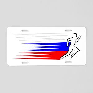 Athletics Runner - Russia Aluminum License Plate