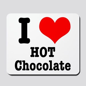 I Heart (Love) Hot Chocolate Mousepad