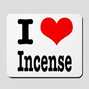 I Heart (Love) Incense Mousepad