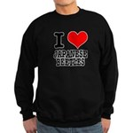 I Heart (Love) Japanese Beetl Sweatshirt (dark)