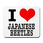 I Heart (Love) Japanese Beetl Mousepad