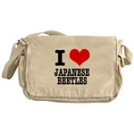 I Heart (Love) Japanese Beetl Messenger Bag