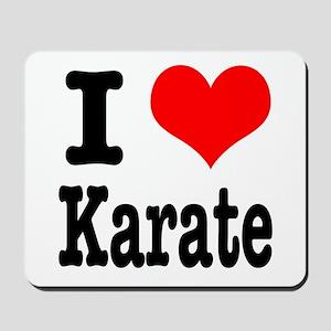 I Heart (Love) Karate Mousepad