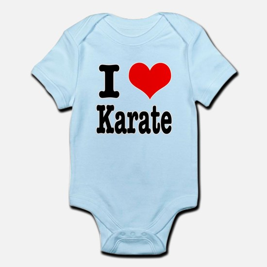 I Heart (Love) Karate Infant Bodysuit