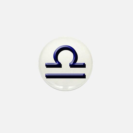 Libra Blue Mini Button