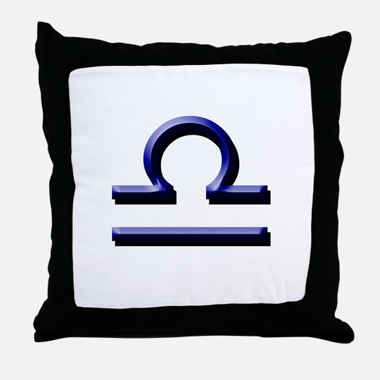 Libra Blue Throw Pillow
