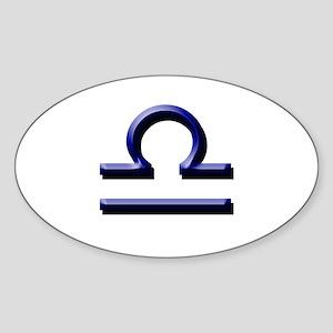 Libra Blue Oval Sticker