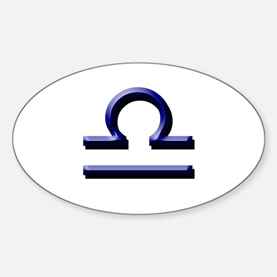 Libra Blue Oval Decal