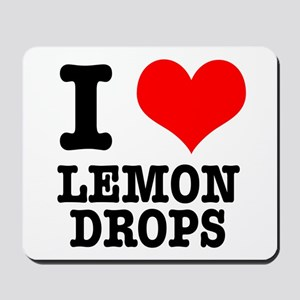 I Heart (Love) Lemon Drops Mousepad