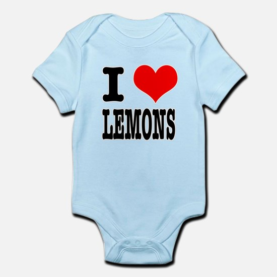I Heart (Love) Lemons Infant Bodysuit
