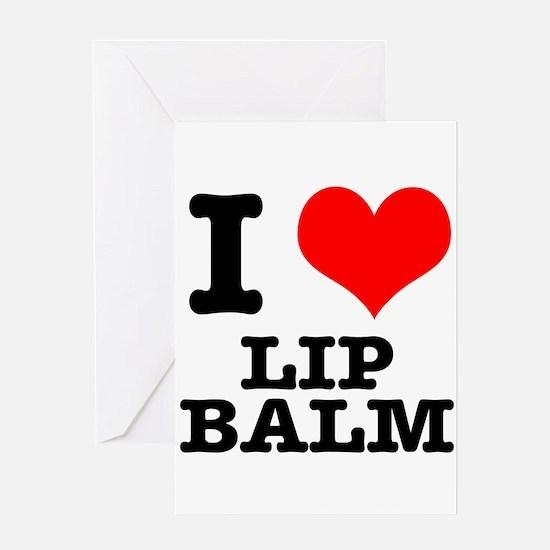 I Heart (Love) Lip Balm Greeting Card