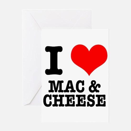 I Heart (Love) Mac & Cheese Greeting Card