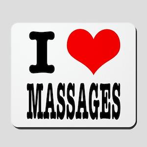 I Heart (Love) Massages Mousepad