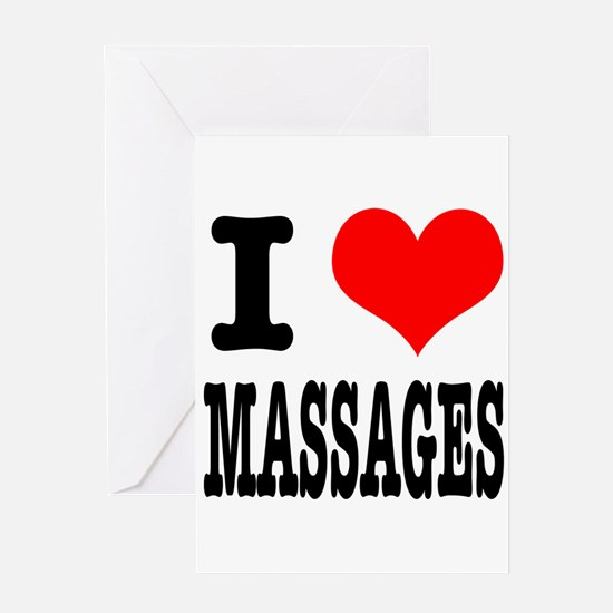 I Heart (Love) Massages Greeting Card