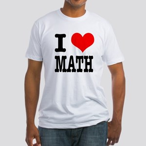 I Heart (Love) Math Fitted T-Shirt