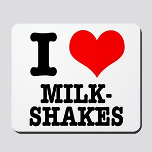 I Heart (Love) Milkshakes Mousepad