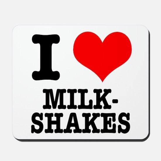 I Heart (Love) Milkshakes Mousepad