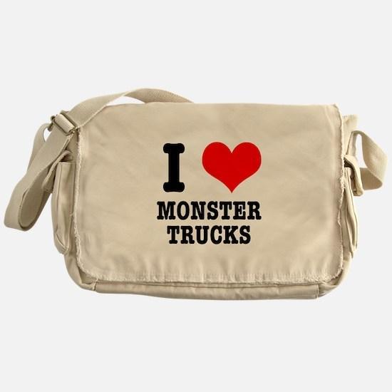 I Heart (Love) Monster Trucks Messenger Bag