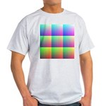 Divided Color Chart Ash Grey T-Shirt