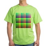 Divided Color Chart Green T-Shirt