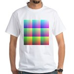 Divided Color Chart White T-Shirt