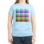 Divided Color Chart Women's Pink T-Shirt