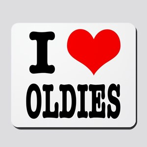 I Heart (Love) Oldies Mousepad