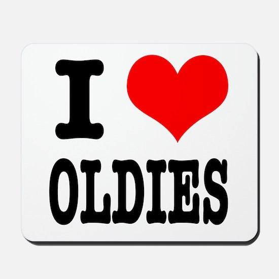 I Heart (Love) Oldies Mousepad