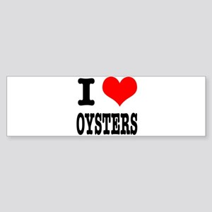 I Heart (Love) Oysters Sticker (Bumper)