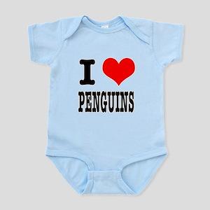 I Heart (Love) Penguins Infant Bodysuit