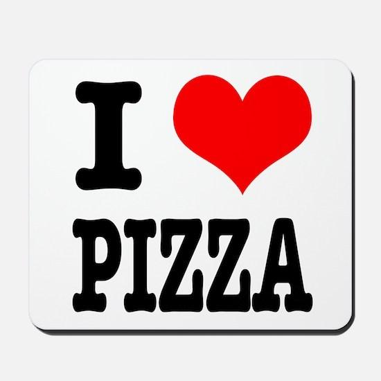 I Heart (Love) Pizza Mousepad