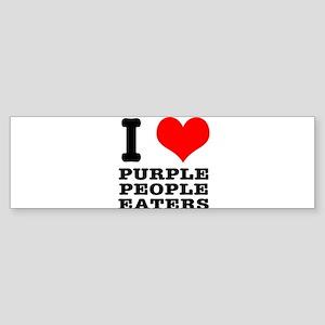 I Heart (Love) Purple People Sticker (Bumper)