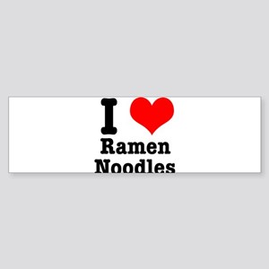 I Heart (Love) Ramen Noodles Sticker (Bumper)