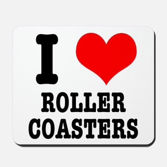 I Heart (Love) Roller Coaster Mousepad