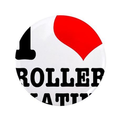 "I Heart (Love) Roller Skating 3.5"" Button"