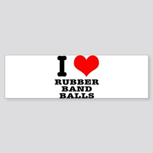 I Heart (Love) Rubber Band Ba Sticker (Bumper)