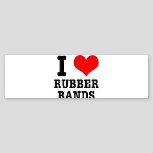 I Heart (Love) Rubber Bands Sticker (Bumper)