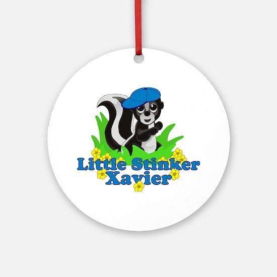 Little Stinker Xavier Ornament (Round)