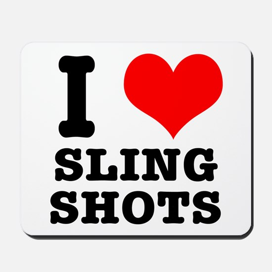 I Heart (Love) Sling Shots Mousepad