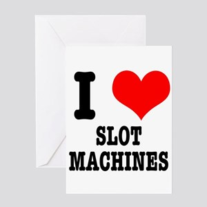 I Heart (Love) Slot Machines Greeting Card