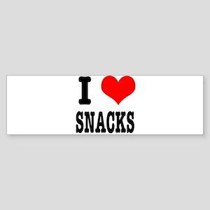 I Heart (Love) Snacks Sticker (Bumper)