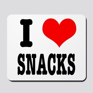I Heart (Love) Snacks Mousepad