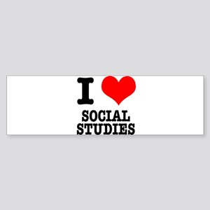 I Heart (Love) Social Studies Sticker (Bumper)