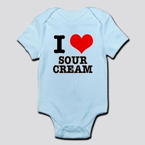 I Heart (Love) Sour Cream Infant Bodysuit