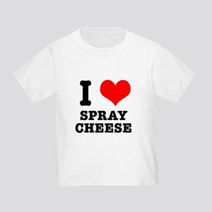 I Heart (Love) Spray Cheese Toddler T-Shirt