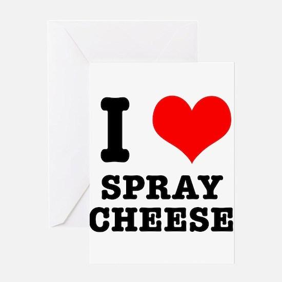 I Heart (Love) Spray Cheese Greeting Card
