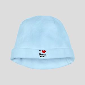 I Heart (Love) Stinky Feet baby hat